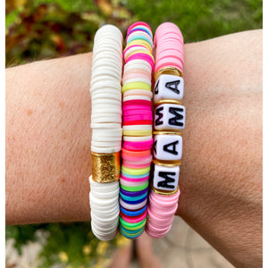 Color Pop Bracelet - MAMA in Light Pink-Four Sisters Boutique