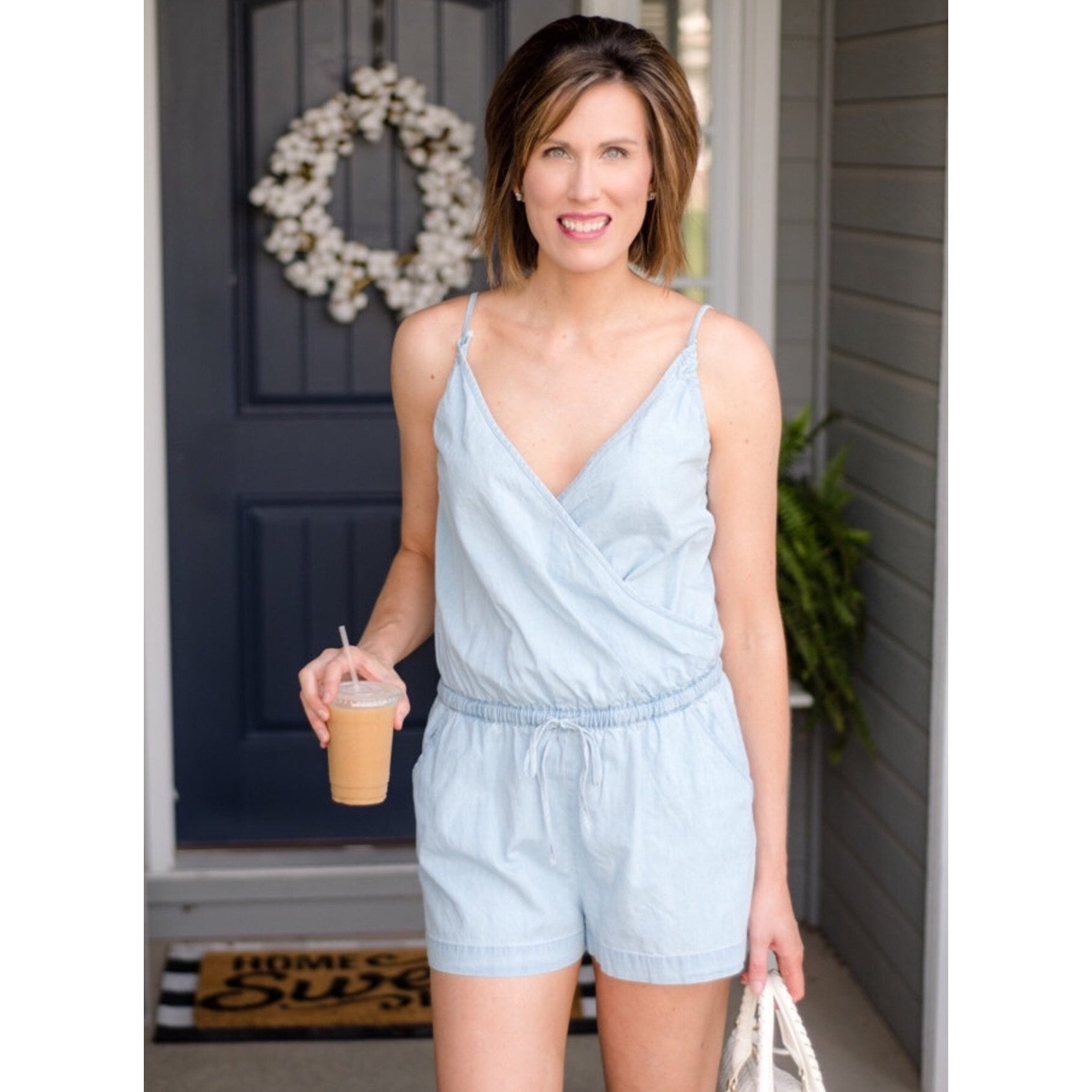 Tank Denim Romper-Four Sisters Boutique