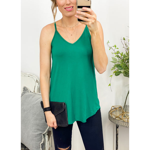 Reversible Tank in Emerald-Four Sisters Boutique