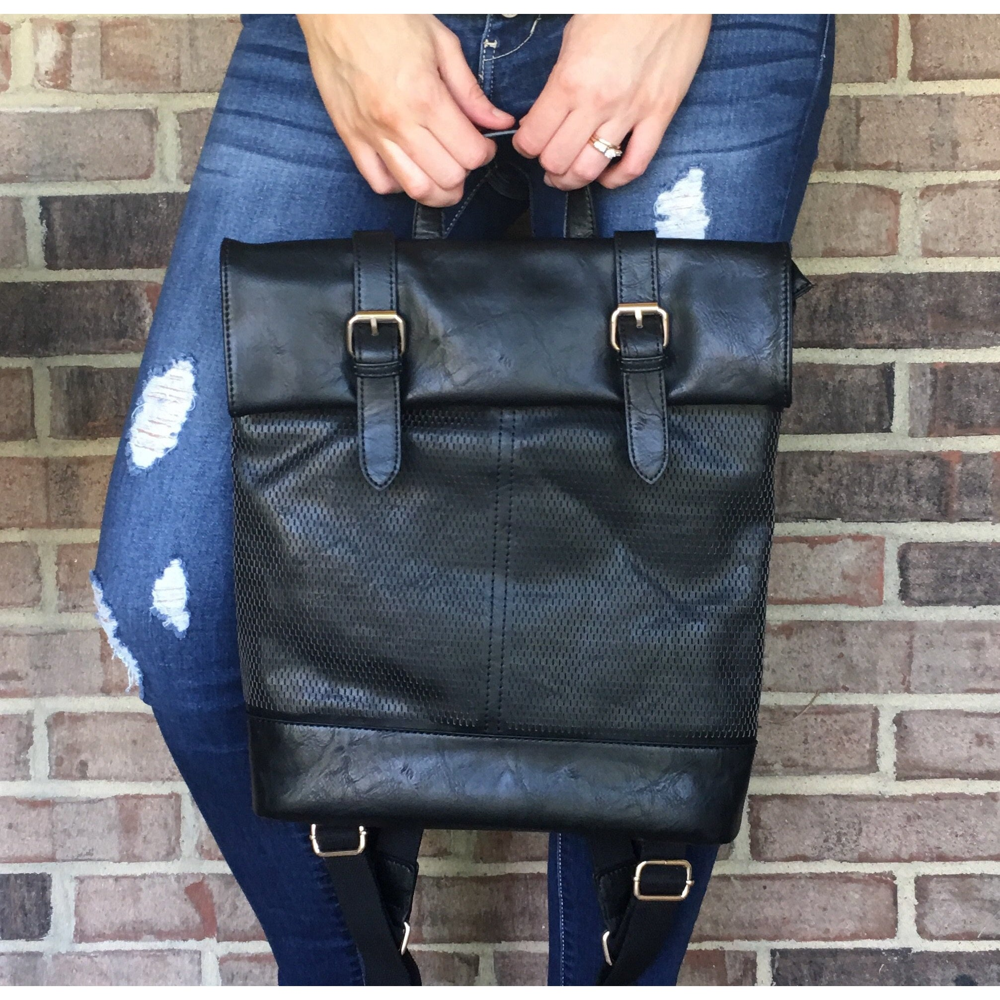 On the Go Backpack in Black-Four Sisters Boutique