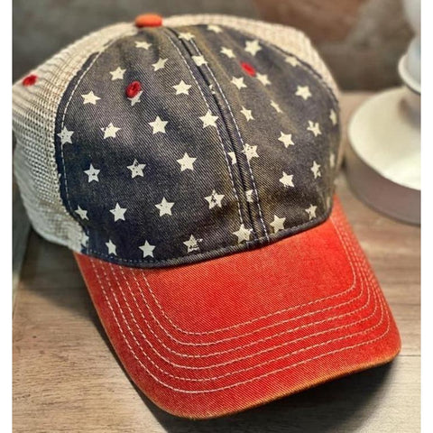 Vintage America Trucker Hat-Four Sisters Boutique