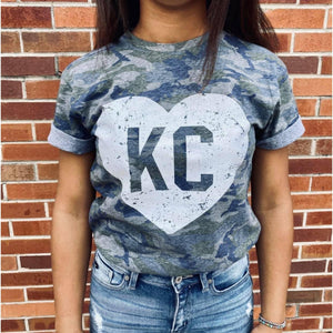 KC Camo Tee ***PREORDER***-Four Sisters Boutique