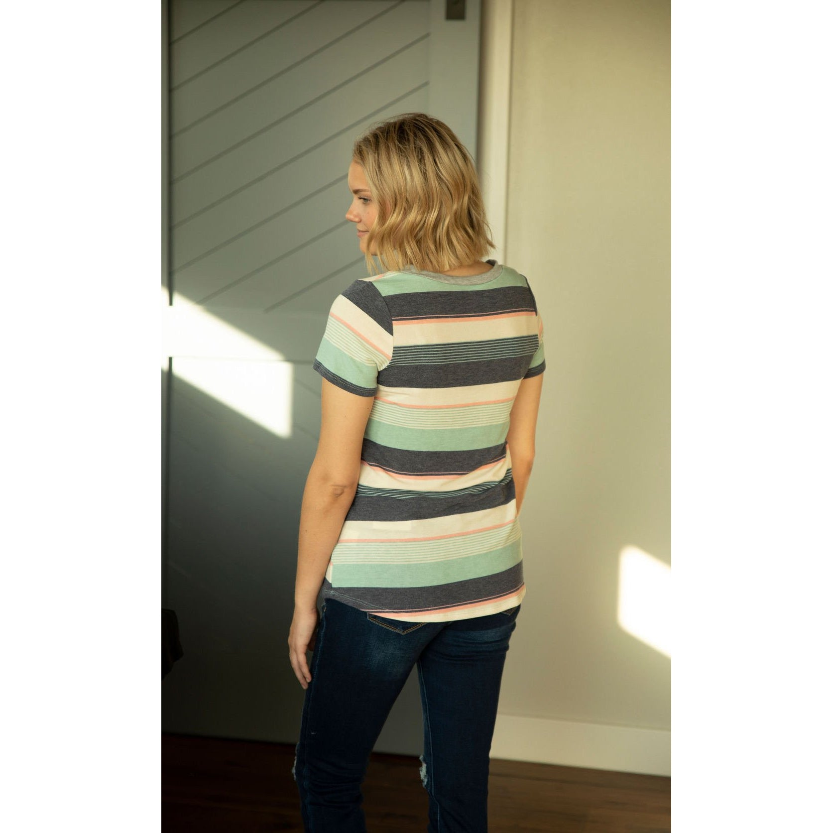 Navy Stripes Top-Four Sisters Boutique