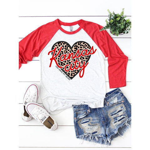 Kansas City - You Have My Heart Raglan-Four Sisters Boutique