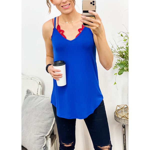 Reversible Tank in Royal Blue-Four Sisters Boutique
