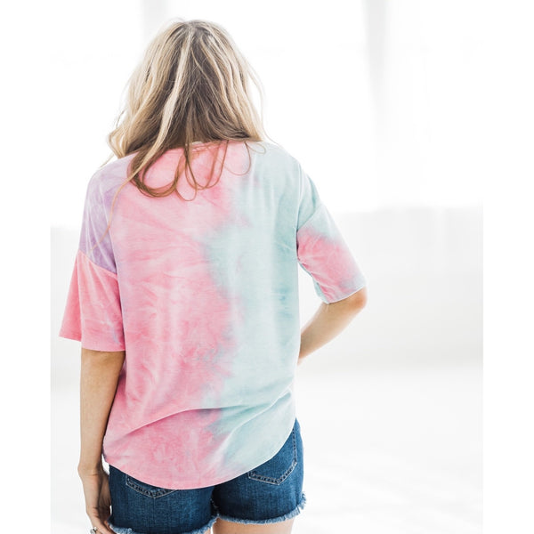 Pink and Jade Tie Dye Top-Four Sisters Boutique