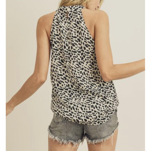 Animal Print Halter-Four Sisters Boutique