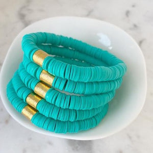 Color Pop Bracelet - Turquoise-Four Sisters Boutique