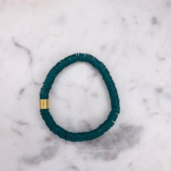 Color Pop Bracelet - Dark Teal-Four Sisters Boutique