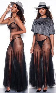 """Sheer Me"" Sexy Mesh Swimwear Cover Up - The Faddi Clothing Boutique - Sexy Club Party Clothes"
