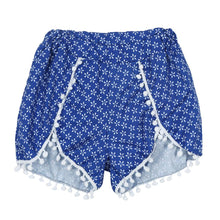 Blue Tassel High Waist Beach Shorts - The Faddi Clothing Boutique - Sexy Club Party Clothes