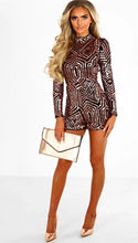 """Maze Ways"" Stylish Sequins Romper - The Faddi Clothing Boutique - Sexy Club Party Clothes"