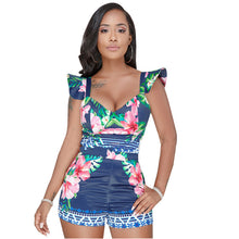 Ruffle Flare Sleeves Floral Romper (4 Colors Available) - The Faddi - Sexy Clothes, Stylish Fashion