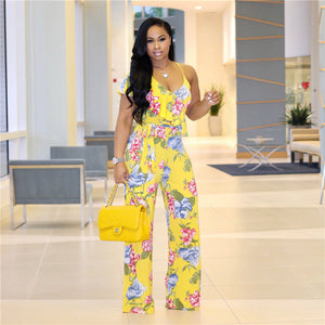 """Floral Attraction"" Jumpsuit - The Faddi Clothing Boutique - Sexy Club Party Clothes"