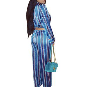 """Divine Diva"" Striped Jumpsuit - The Faddi Clothing Boutique - Sexy Club Party Clothes"