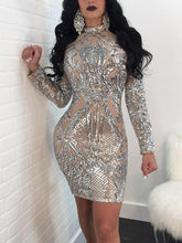 """Silver Fox"" Sequins Party Dress - The Faddi Clothing Boutique - Sexy Club Party Clothes"
