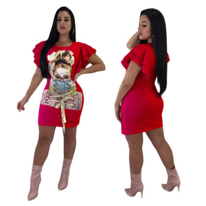 """Vogue"" Butterfly Sleeve Dress - The Faddi Clothing Boutique - Sexy Club Party Clothes"