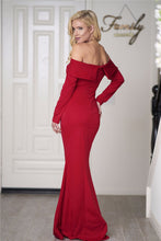 Sexy Off the Shoulder Red Formal Dress