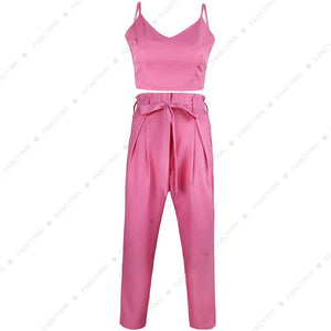 Two Piece Pink Fashion Jumpsuit Set - The Faddi - Sexy Clothes, Stylish Fashion