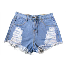 Fashion Ripped High Waisted Denim Shorts (2 Colors Available) - The Faddi - Sexy Clothes, Stylish Fashion