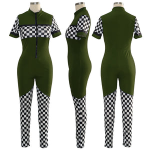 """No Competition"" Sporty Jumpsuit - The Faddi Clothing Boutique - Sexy Club Party Clothes"