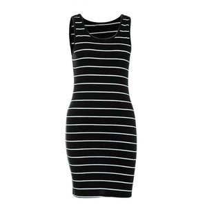 Sleeveless Striped Summer Dress