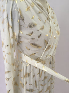 """Feathered in Gold"" Maxi Dress - The Faddi Clothing Boutique - Sexy Club Party Clothes"