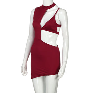 Dynamic Cut Out Deep-V Party Dress - The Faddi Clothing Boutique - Sexy Club Party Clothes