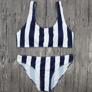 """Blue Elixir"" Striped Two Piece Set - The Faddi Clothing Boutique - Sexy Club Party Clothes"