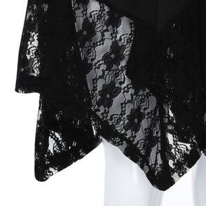 """Joyful Me"" Plus Size Lace Asymmetric Shirt - The Faddi Clothing Boutique - Sexy Club Party Clothes"