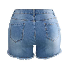 Beaded Ripped Denim High Waisted Shorts - The Faddi Clothing Boutique - Sexy Club Party Clothes