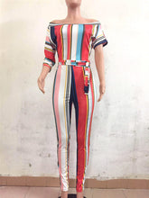 """Stripe of Desire"" Fashion Jumpsuit - The Faddi Clothing Boutique - Sexy Club Party Clothes"