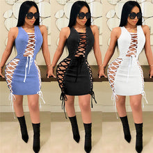 Laced Up Bodycon Mini Dress