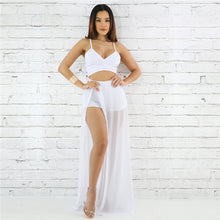 """Crescent Flow"" Mesh Bottom Two Piece Set (6 Colors Available) - The Faddi - Sexy Clothes, Stylish Fashion"
