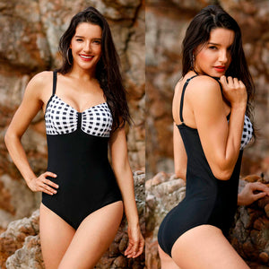 Polka Dot Top One Piece Swimsuit - The Faddi - Sexy Clothes, Stylish Fashion