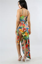 Bohemian Floral High Split Two Piece Outfit - The Faddi Clothing Boutique - Sexy Club Party Clothes