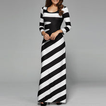"""Breeze Away"" Striped Long Dress - The Faddi Clothing Boutique - Sexy Club Party Clothes"