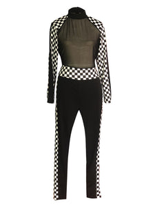 """Race to the Finish"" Sheer Mesh Jumpsuit - The Faddi Clothing Boutique - Sexy Club Party Clothes"