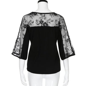 """Easy Flow"" Plus Size Chiffon Blouse - The Faddi Clothing Boutique - Sexy Club Party Clothes"