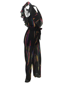"""Color Mystic"" Deep V-Neck Jumpsuit - The Faddi Clothing Boutique - Sexy Club Party Clothes"