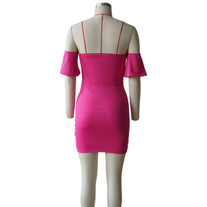 """Heart Breaker"" Off Shoulder Bodycon Dress - The Faddi Clothing Boutique - Sexy Club Party Clothes"
