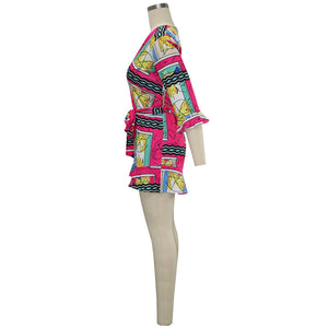 """Lively Flare"" Fashion Romper - The Faddi Clothing Boutique - Sexy Club Party Clothes"