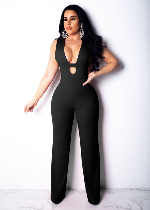 Sexy Hollow Out Sleeveless Jumpsuit