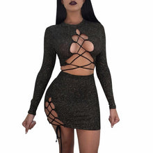 """Two Way"" Versatile Sequins Set - The Faddi Clothing Boutique - Sexy Club Party Clothes"