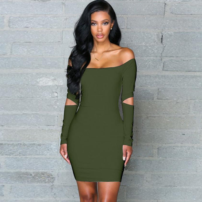 597fcb3d2ea7 Sexy Off The Shoulder Bodycon Dress (3 Colors Available) - The Faddi - Sexy
