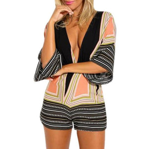 """Not So Subtle"" Deep V Romper - The Faddi Clothing Boutique - Sexy Club Party Clothes"