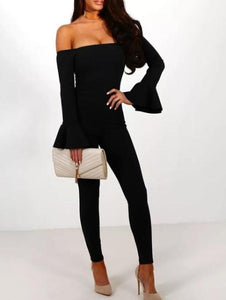 """Cat's Meow"" Flare Sleeve Jumpsuit - The Faddi Clothing Boutique - Sexy Club Party Clothes"