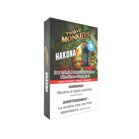 Twelve Monkeys Hakuna PODS for Nikki Vape Kit (3 Pack)