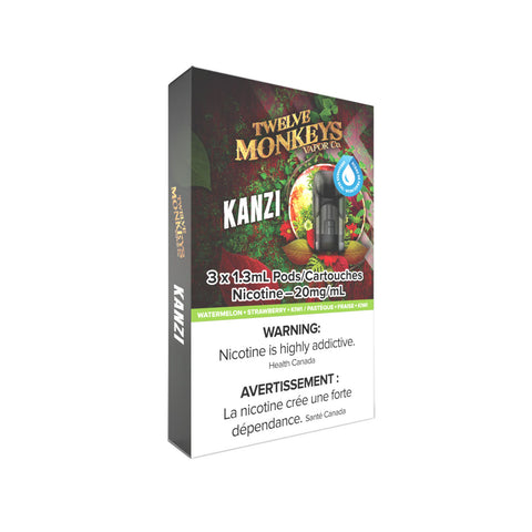 Twelve Monkeys Kanzi PODS for Nikki Vape Kit (3 Pack)