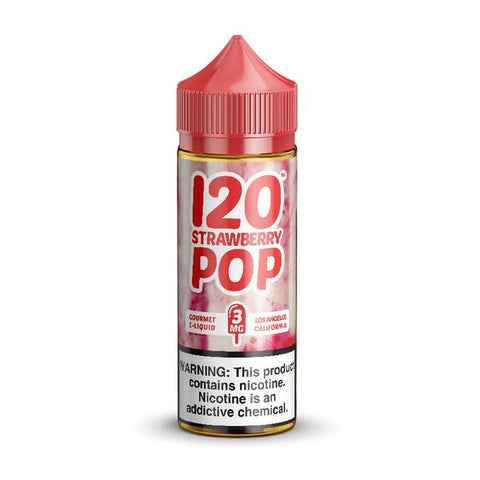 120 Strawberry Pop By Madhatter Milkman E-Liquid - 60ML